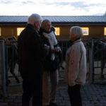 Besucher und Besucherinnen am 24-November 2018 auf dem Eselhof Aline mit Hanni Huber