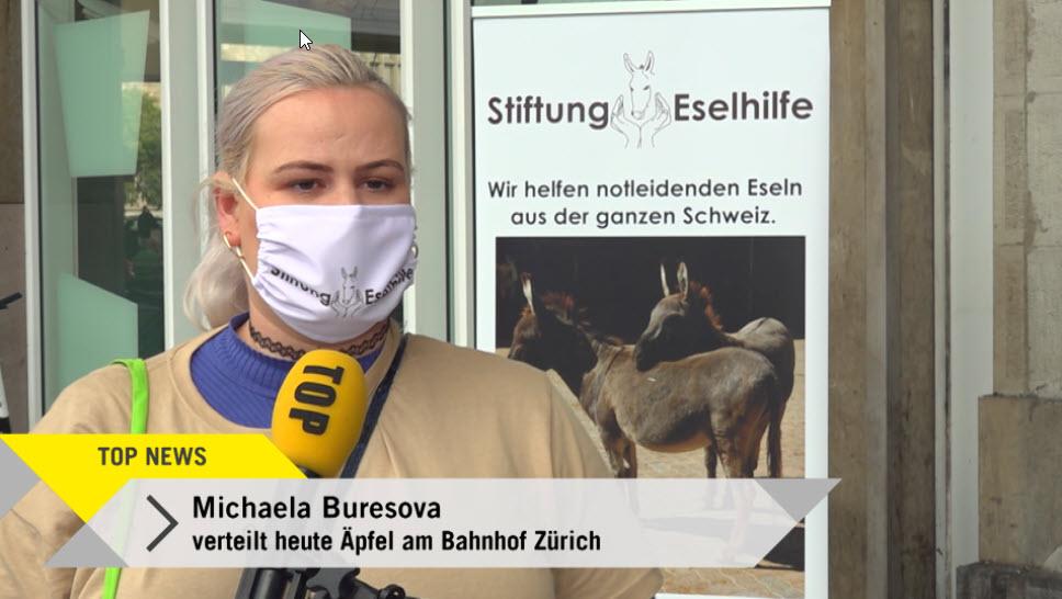 Eseltag - Am Zürcher Hauptbahnhof wird auf die Not der Tiere hingewiesen