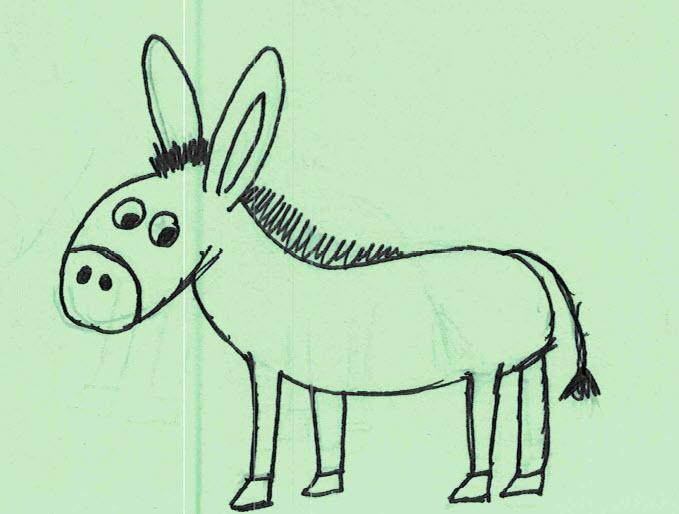 Sophie Zeichnung Esel